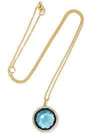 Rock Candy Lollipop 18-karat gold, topaz and diamond necklace