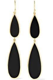 Ippolita Rock Candy 18-karat gold onyx earrings