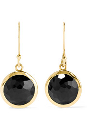 Ippolita Rock Candy Lollipop 18-karat gold onyx earrings