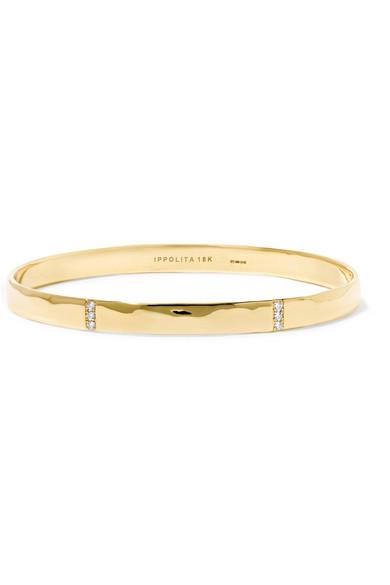 ippolita female ippolita senso hammered 18karat gold diamond bracelet one size