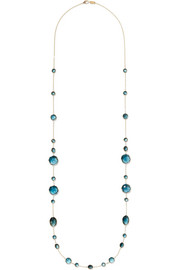 Ippolita Rock Candy Crazy 8's 18-karat gold topaz necklace