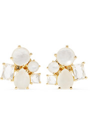 Rock Candy Cluster 18-karat gold multi-stone earrings