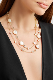 Ippolita Rock Candy Crazy 8's 18-karat gold, quartz and mother-of-pearl necklace