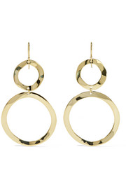 Ippolita Glamazon Snowman 18-karat gold earrings