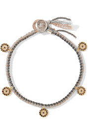 Brooke Gregson 14-karat gold, silver and diamond bracelet
