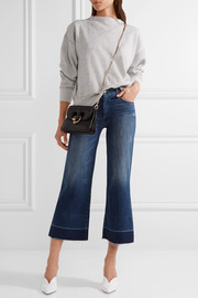 The Roller Crop Undone distressed high-rise wide-leg jeans