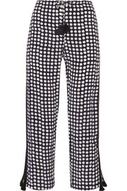 Cova polka-dot silk crepe de chine straight-leg pants
