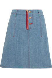 + Lee appliquéd denim skirt