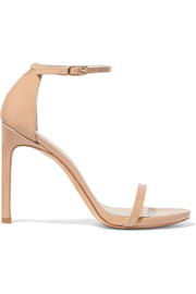 NudistSong patent-leather sandals