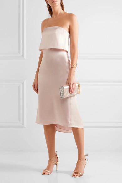 Halston Heritage Mehrlagiges Kleid aus Satin Freies Verschiffen Veröffentlichungstermine Günstig Kaufen Finish Geschäft Zum Verkauf BTMSQW5s9M