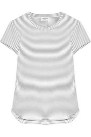 FRAME Striped stretch modal-blend jersey T-shirt