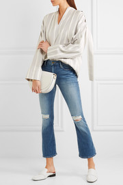 Le Crop Mini mid-rise distressed bootcut jeans