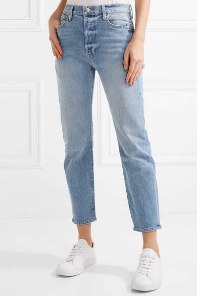 Frame Le Original High Rise Straight Leg Jeans Net A