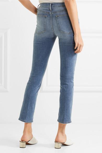 frame le high slim leg jeans net a porter com. Black Bedroom Furniture Sets. Home Design Ideas