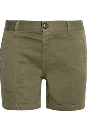 FRAME Le Cuffed cotton-blend shorts