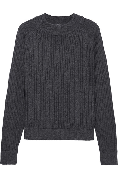 FRAME | Cable-knit merino wool-blend sweater | NET-A-PORTER.COM