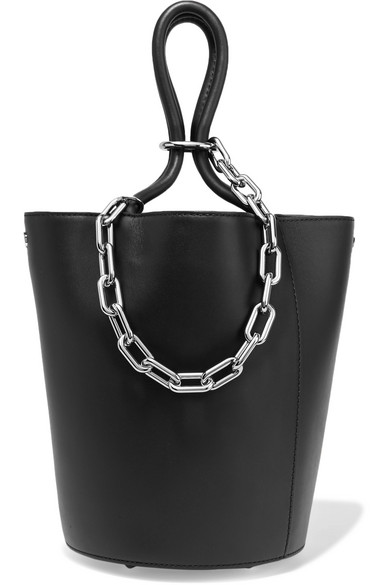 alexander wang female alexander wang roxy chainembellished leather tote black