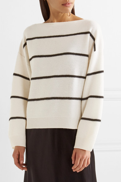 Vince | Striped cashmere sweater | NET-A-PORTER.COM