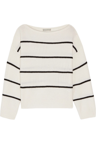 Vince - Striped Cashmere Sweater - Ivory