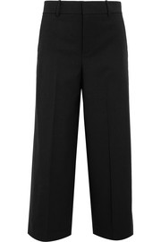 Vince Cropped wool-blend crepe wide-leg pants