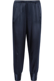 Vince Silk-satin tapered pants