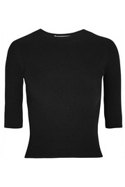 Vince Ribbed stretch-knit top