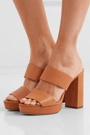 Mansur Gavriel Leather platform mules
