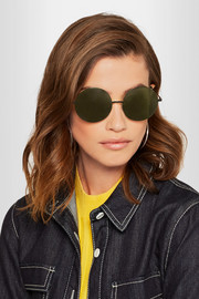 Victoria Beckham Feather Round stainless steel and acetate sunglasses