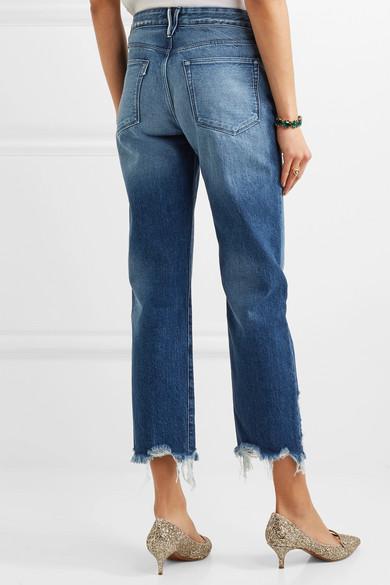 3x1 | Distressed high-rise boyfriend jeans | NET-A-PORTER.COM