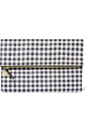 Clare V Supreme gingham leather clutch