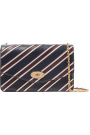 Mulberry Darley striped textured-leather shoulder bag
