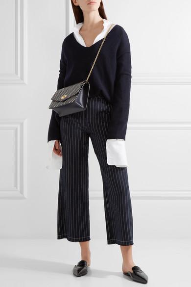 Darley striped textured-leather shoulder bag da101828571f5