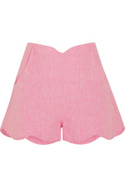 Paper London Fraise scalloped linen shorts