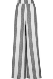 Kelly striped linen wide-leg pants