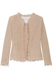 Shavani frayed cotton-blend bouclé jacket