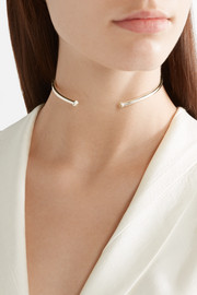 Single Pipe gold-plated choker