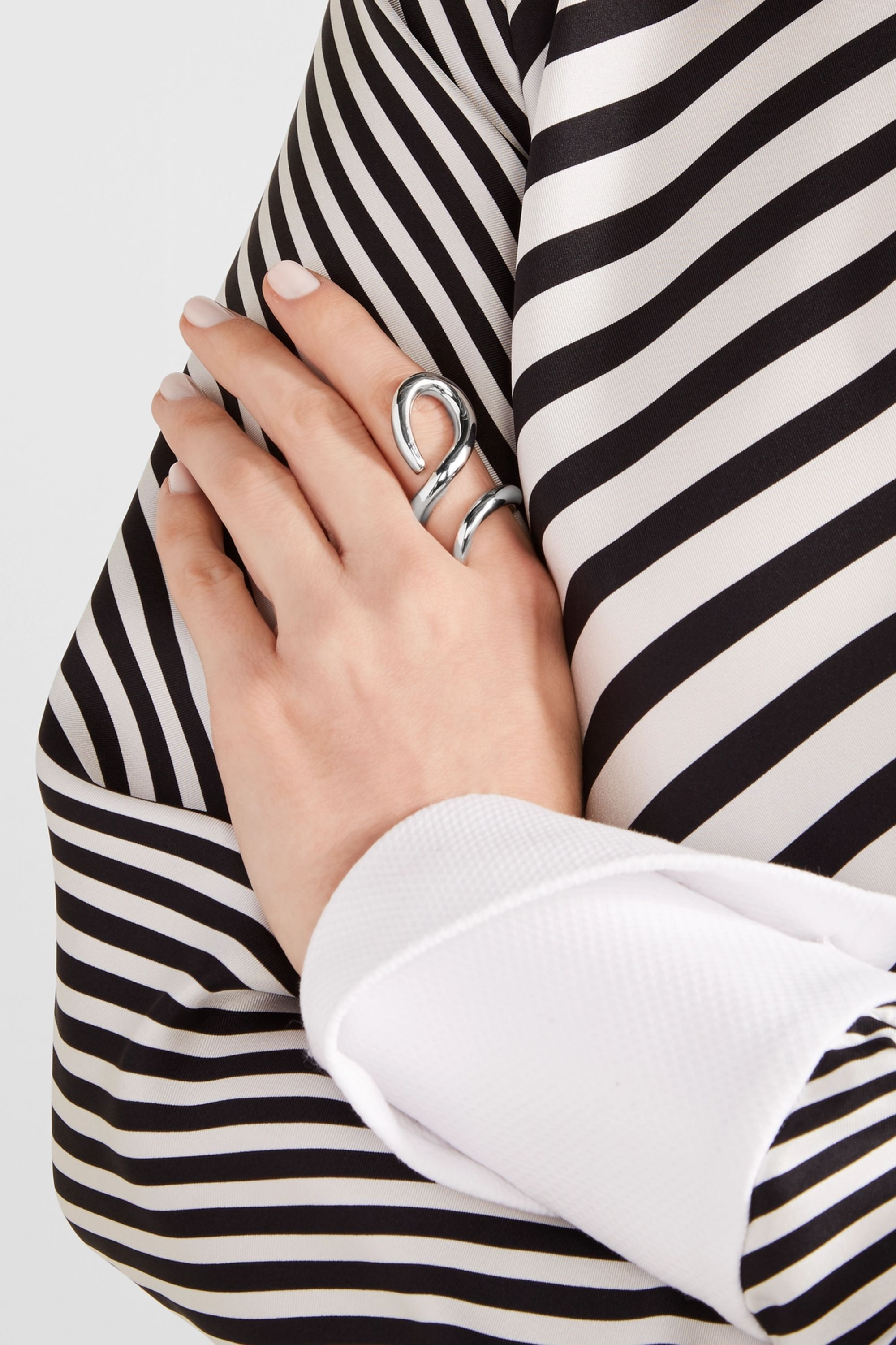 Jennifer Fisher Root silver-plated ring