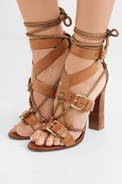 etro rope trimmed leather sandals net a porter
