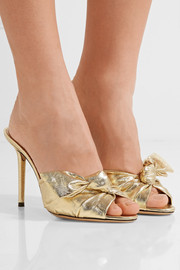 Lola knotted lamé mules
