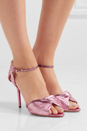 Charlotte Olympia Broadway metallic leather sandals