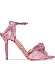 Broadway metallic leather sandals