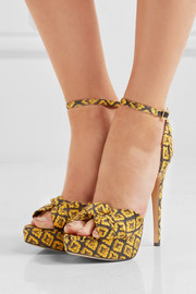 Charlotte Olympia Show Shoes printed canvas platform sandals
