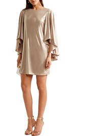 Draped lamé mini dress