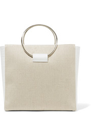 Little Liffner Ring canvas and croc-effect leather tote