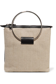 Ring canvas and leather tote