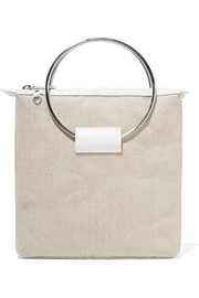 Little Liffner Ring croc-effect leather and canvas tote