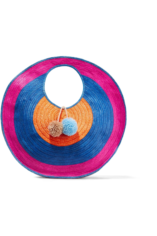 Sophie Anderson Adorada pompom-embellished woven raffia tote
