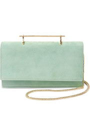Alexia suede and leather shoulder bag