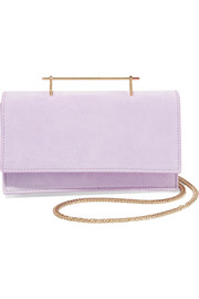 M2Malletier Alexia suede and leather shoulder bag