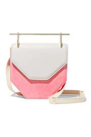Amor Fati two-tone suede and leather shoulder bag